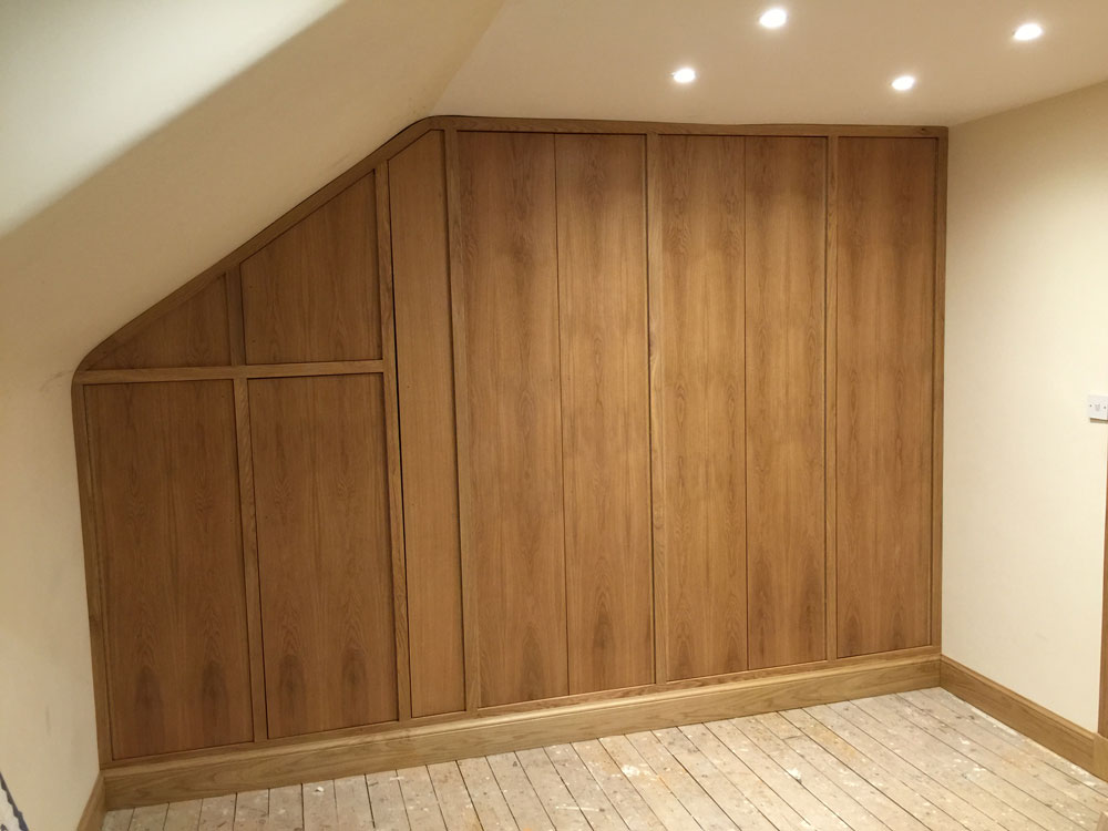 Custom built oak wardrobes
