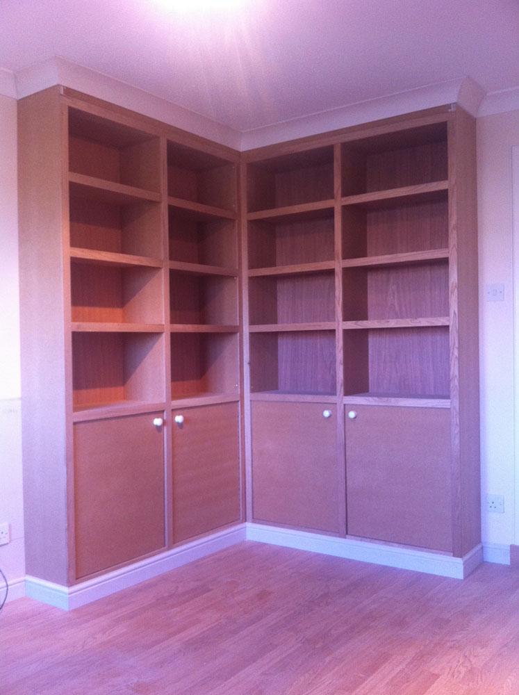 Oak floor to ceiling cabinet