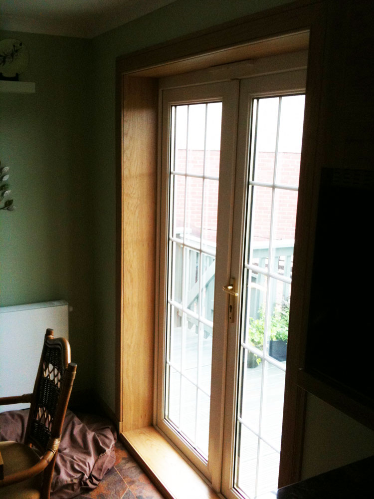 French doors with oak surrounds