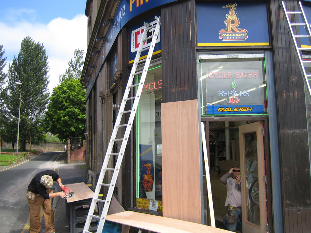 Shopfront tidy up