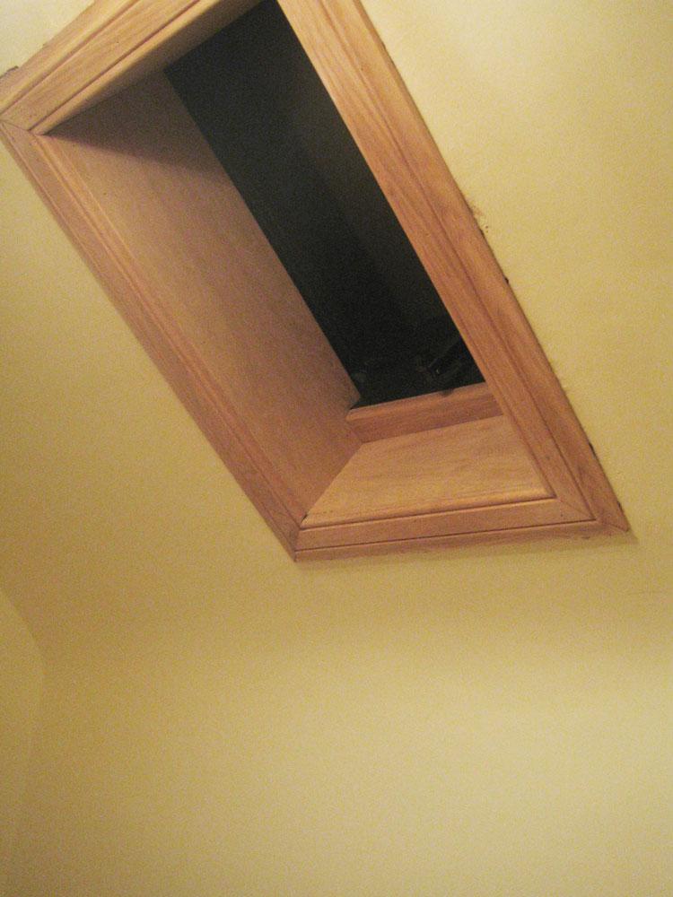 Velux window with oak trim